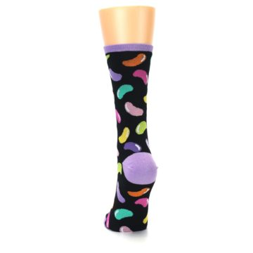Image of Black Jelly Beans Candy Women's Dress Socks (back-17)