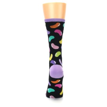 Image of Black Jelly Beans Candy Women's Dress Socks (back-18)