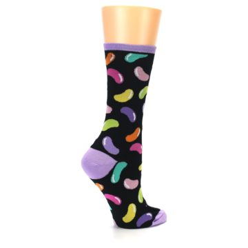 Image of Black Jelly Beans Candy Women's Dress Socks (side-1-23)