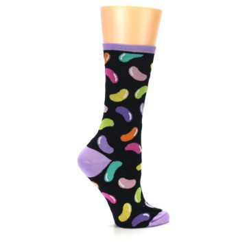 Image of Black Jelly Beans Candy Women's Dress Socks (side-1-24)