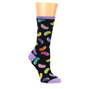 Image of Black Jelly Beans Candy Women's Dress Socks (side-1-26)