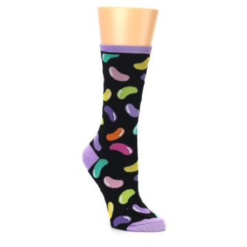 Image of Black Jelly Beans Candy Women's Dress Socks (side-1-27)