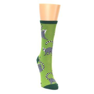 Image of Green Lemurs Women's Dress Socks (side-1-front-03)