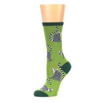 Image of Green Lemurs Women's Dress Socks (side-2-10)