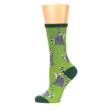 Image of Green Lemurs Women's Dress Socks (side-2-11)