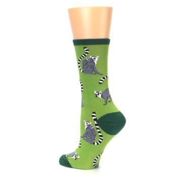 Image of Green Lemurs Women's Dress Socks (side-2-back-14)