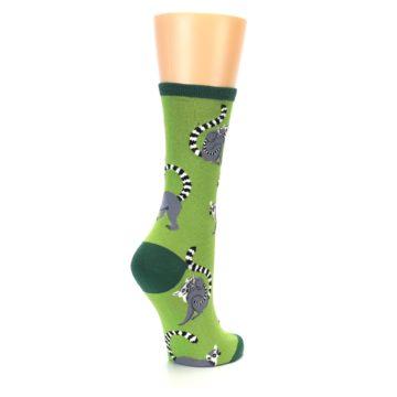 Image of Green Lemurs Women's Dress Socks (side-1-back-22)