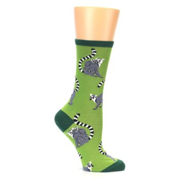 Image of Green Lemurs Women's Dress Socks (side-1-25)