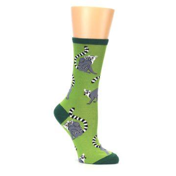 Image of Green Lemurs Women's Dress Socks (side-1-26)