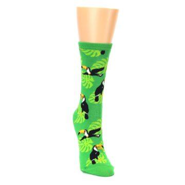Image of Green Toucan Bird Women's Dress Socks (side-1-front-03)
