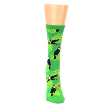 Image of Green Toucan Bird Women's Dress Socks (front-04)