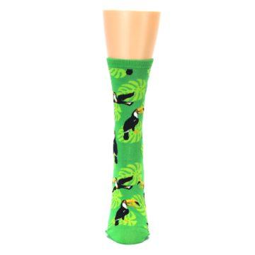 Image of Green Toucan Bird Women's Dress Socks (front-05)