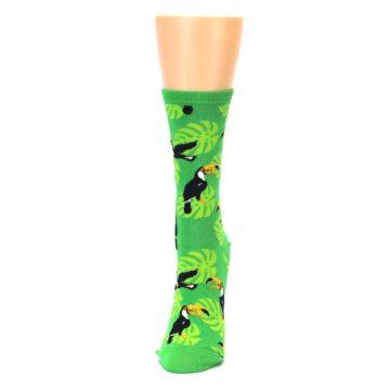 Image of Green Toucan Bird Women's Dress Socks (side-2-front-06)