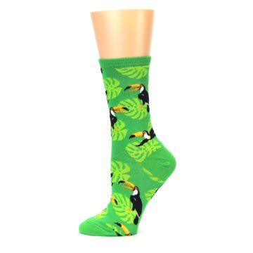 Image of Green Toucan Bird Women's Dress Socks (side-2-11)