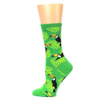 Image of Green Toucan Bird Women's Dress Socks (side-2-12)