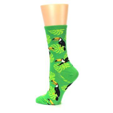 Image of Green Toucan Bird Women's Dress Socks (side-2-13)