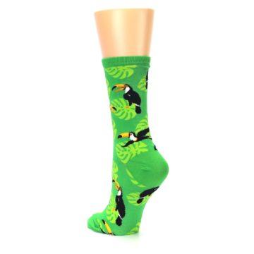 Image of Green Toucan Bird Women's Dress Socks (side-2-back-15)