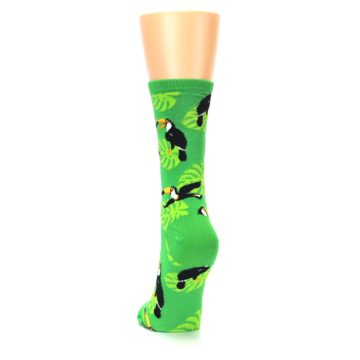 Image of Green Toucan Bird Women's Dress Socks (back-17)