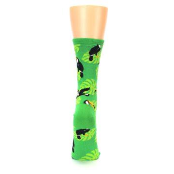 Image of Green Toucan Bird Women's Dress Socks (back-19)