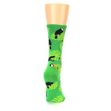 Image of Green Toucan Bird Women's Dress Socks (side-1-back-20)