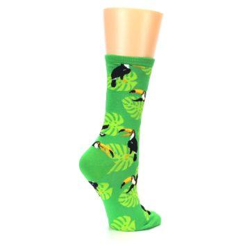 Image of Green Toucan Bird Women's Dress Socks (side-1-23)