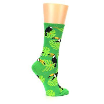 Image of Green Toucan Bird Women's Dress Socks (side-1-24)