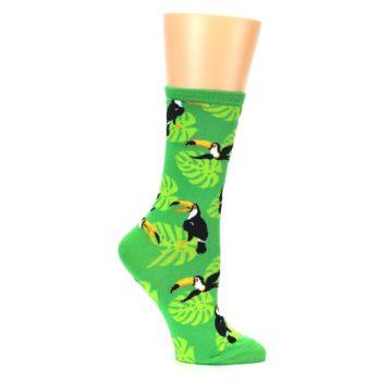 Image of Green Toucan Bird Women's Dress Socks (side-1-25)