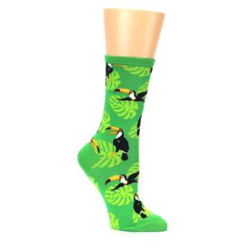 Image of Green Toucan Bird Women's Dress Socks (side-1-26)