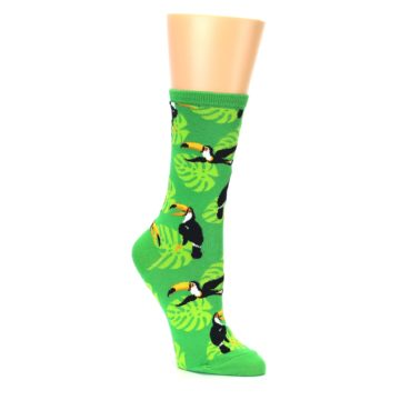 Image of Green Toucan Bird Women's Dress Socks (side-1-27)