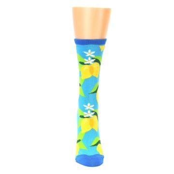 Image of Blue Yellow Lemons Women's Dress Socks (front-05)