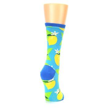 Image of Blue Yellow Lemons Women's Dress Socks (side-1-back-21)