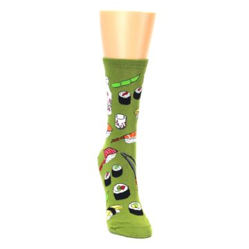 Image of Green Sushi Food Women's Dress Socks (side-1-front-03)