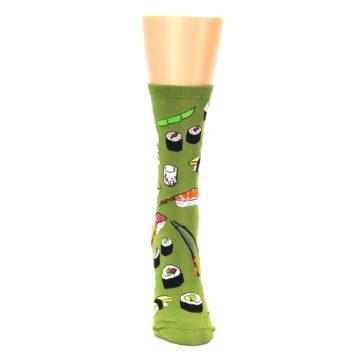 Image of Green Sushi Food Women's Dress Socks (front-04)