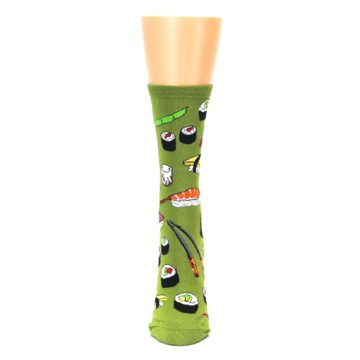 Image of Green Sushi Food Women's Dress Socks (front-05)