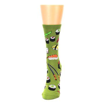 Image of Green Sushi Food Women's Dress Socks (side-2-front-06)