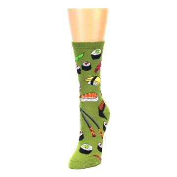 Image of Green Sushi Food Women's Dress Socks (side-2-front-07)
