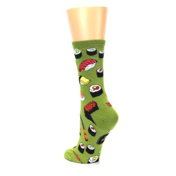 Image of Green Sushi Food Women's Dress Socks (side-2-back-15)