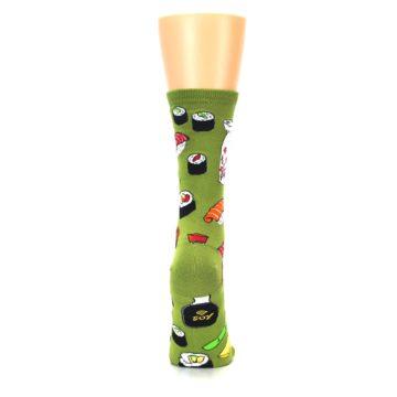 Image of Green Sushi Food Women's Dress Socks (back-19)