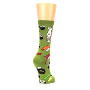 Image of Green Sushi Food Women's Dress Socks (side-1-back-21)