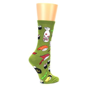 Image of Green Sushi Food Women's Dress Socks (side-1-23)