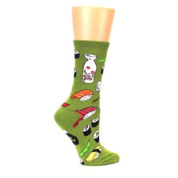Image of Green Sushi Food Women's Dress Socks (side-1-24)