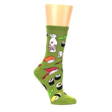 Image of Green Sushi Food Women's Dress Socks (side-1-25)