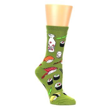 Image of Green Sushi Food Women's Dress Socks (side-1-26)
