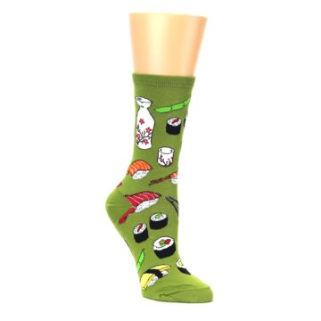 Image of Green Sushi Food Women's Dress Socks (side-1-27)