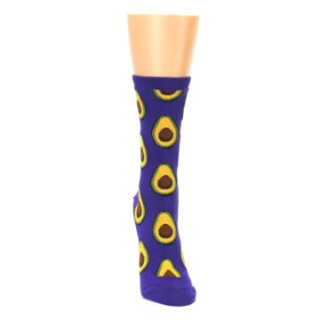 Image of Purple Avocado Women's Dress Socks (front-04)