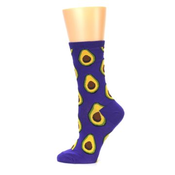 Image of Purple Avocado Women's Dress Socks (side-2-12)
