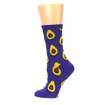 Image of Purple Avocado Women's Dress Socks (side-2-13)