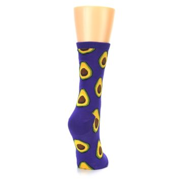 Image of Purple Avocado Women's Dress Socks (side-1-back-21)