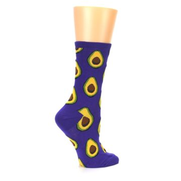 Image of Purple Avocado Women's Dress Socks (side-1-24)