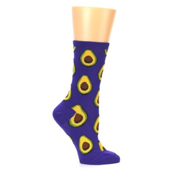 Image of Purple Avocado Women's Dress Socks (side-1-25)